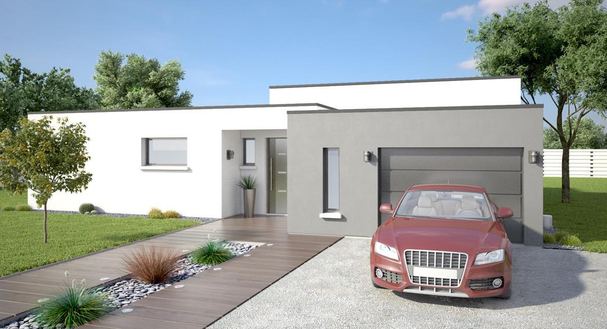 Plan Maisons Moderne Toit Plat Perigueux 14